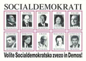 Volilni plakat SDSS l. 1990