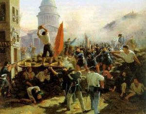 05 1848 February, Vernet, Barricade, Rue Soufflot