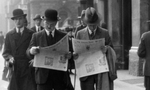 Men Reading Newspapers in London