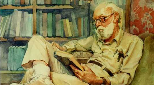 Old-man-Reading