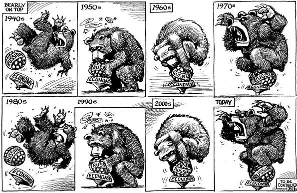 Ruska ekonomija (vir: The Economist)