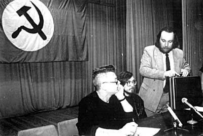 Dugin in Limonov na nacional-boljševističnem zborovanju v 90-ih letih